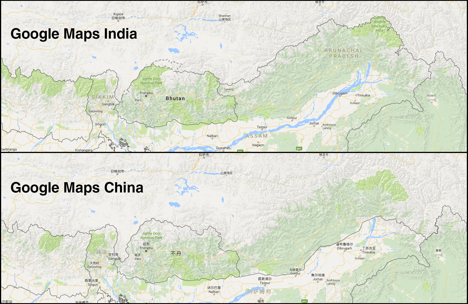 There is Only 1 Shenzhen River, So Why Does Google Maps Show