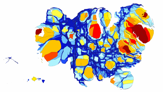 The Shape Of The US Economy Metrocosm - Us gdp map