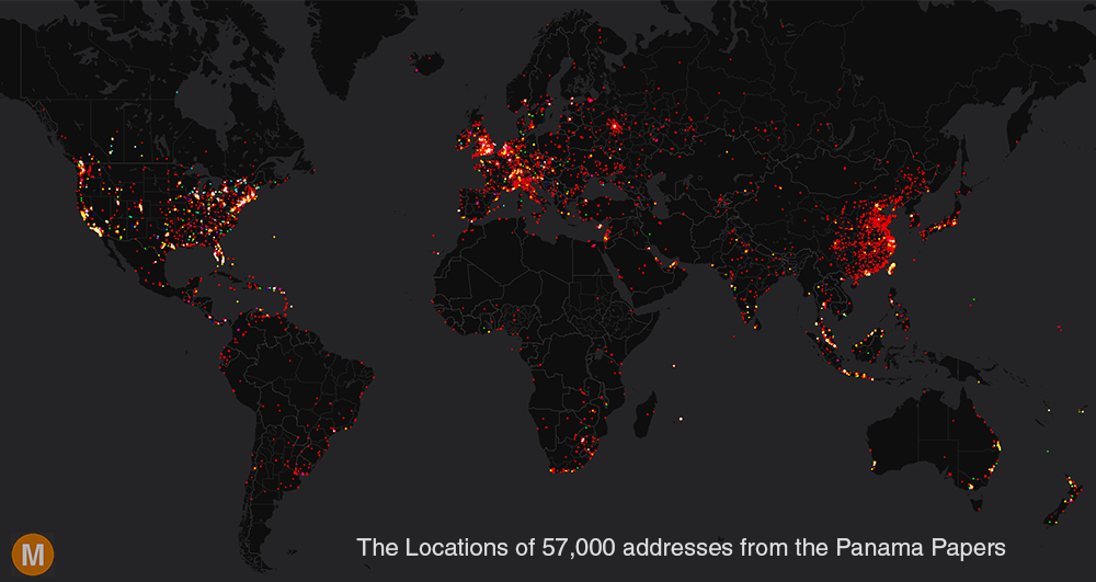 Mapping Addresses From The Panama Papers Metrocosm - Map a list of addresses