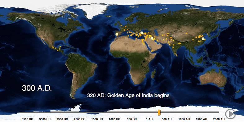 Watch as the world's cities appear one-by-one over 6,000 years
